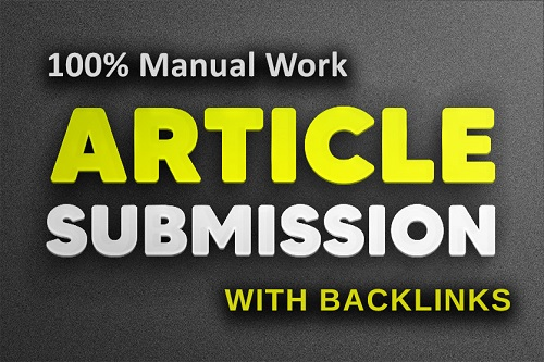 Article Submision Backlinks Service
